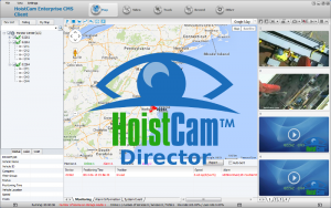 Screenshot of HoistCam Director Client Software for Windows