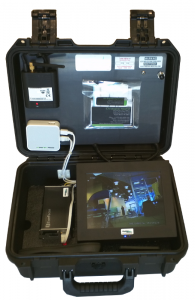 Rapidly Deployable Video Surveillance (RDVS) Platform Centralized and portable monitoring. Includes wireless access point, RDWC receivers, display, digital video recorder (DVR) and monitor.