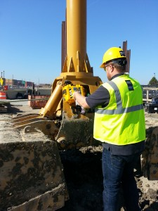 Attaching HoistCam to Excavator Bucket