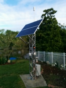 ThreeSixtyCam - Tower with Solar Panel and Wireless Direction Antenna