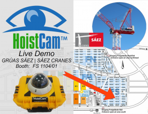 Netarus' HoistCam Demo at Saez Crane - Bauma 2016